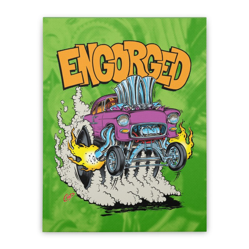 ENGORGED II Home Stretched Canvas by artofcoop's Artist Shop