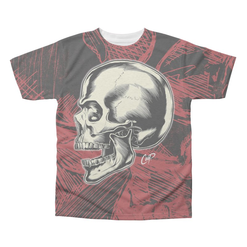 Memento Mori Men's Triblend All Over Print by The Art of Coop