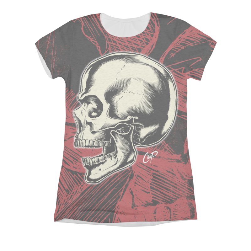 Memento Mori Women's Triblend All Over Print by The Art of Coop