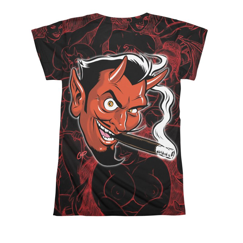 Smoking Devil Women's All Over Print by The Art of Coop