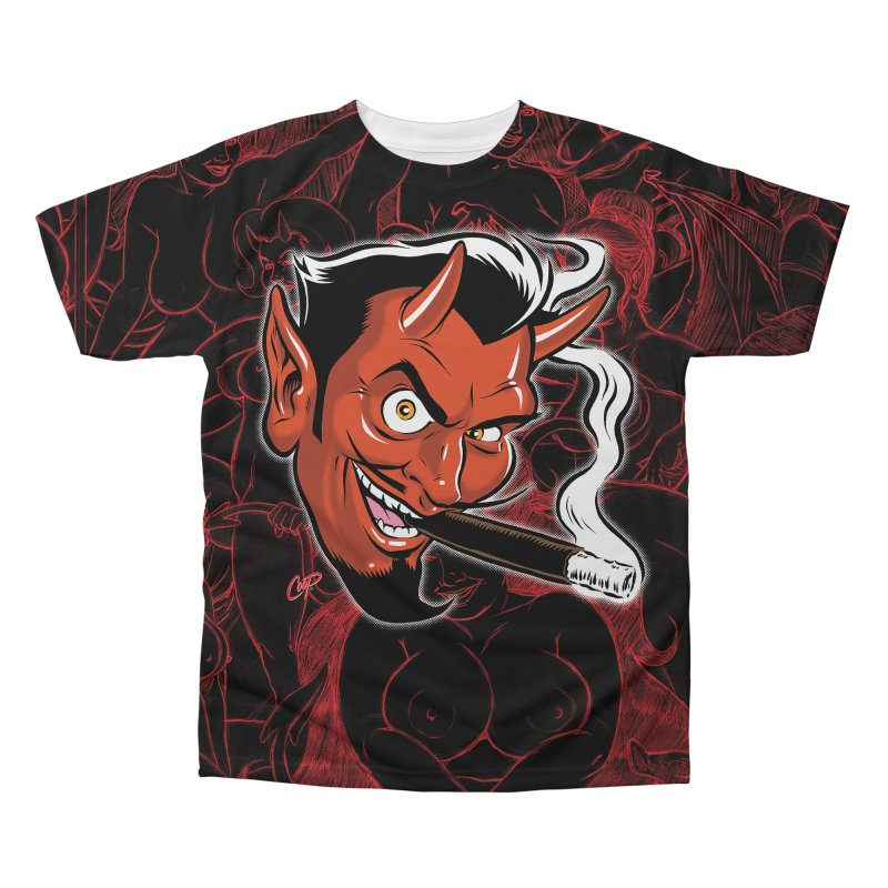 Smoking Devil Men's Regular All Over Print by artofcoop's Artist Shop