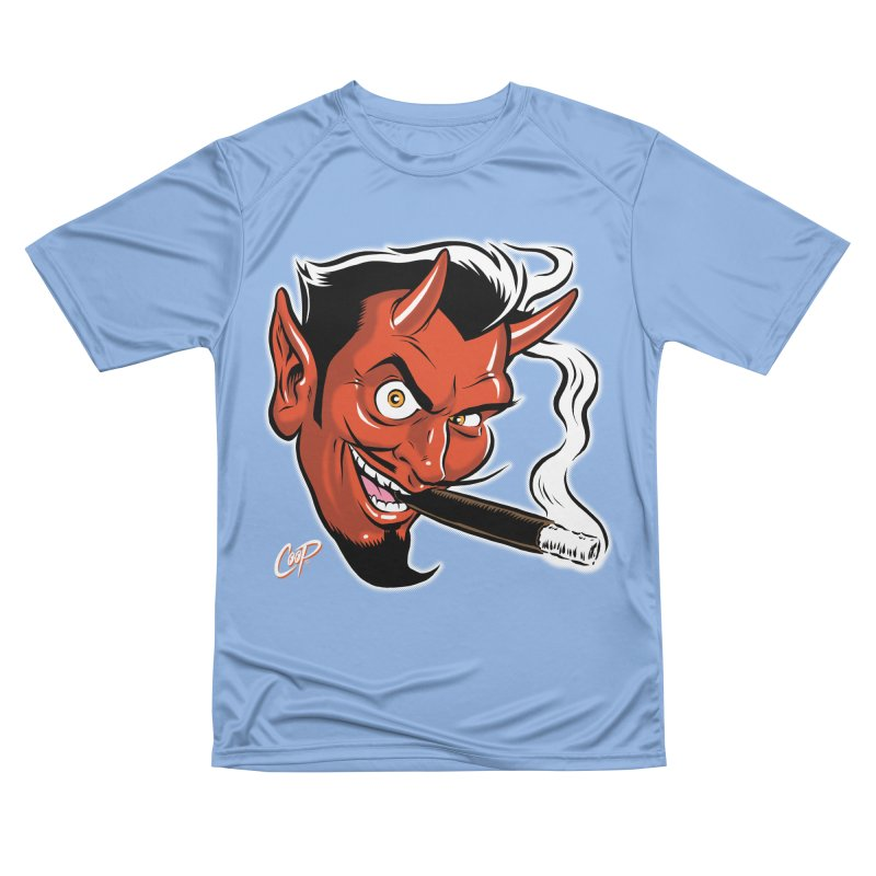 Smoking Devil Men's T-Shirt by The Art of Coop