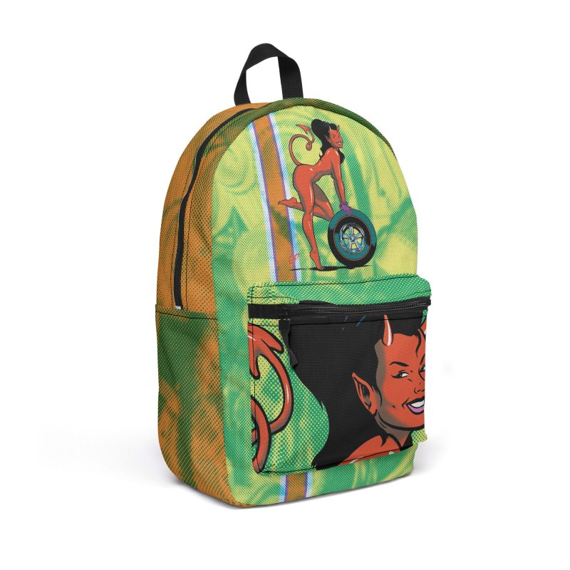Wheel Girl in Backpack by The Art of Coop