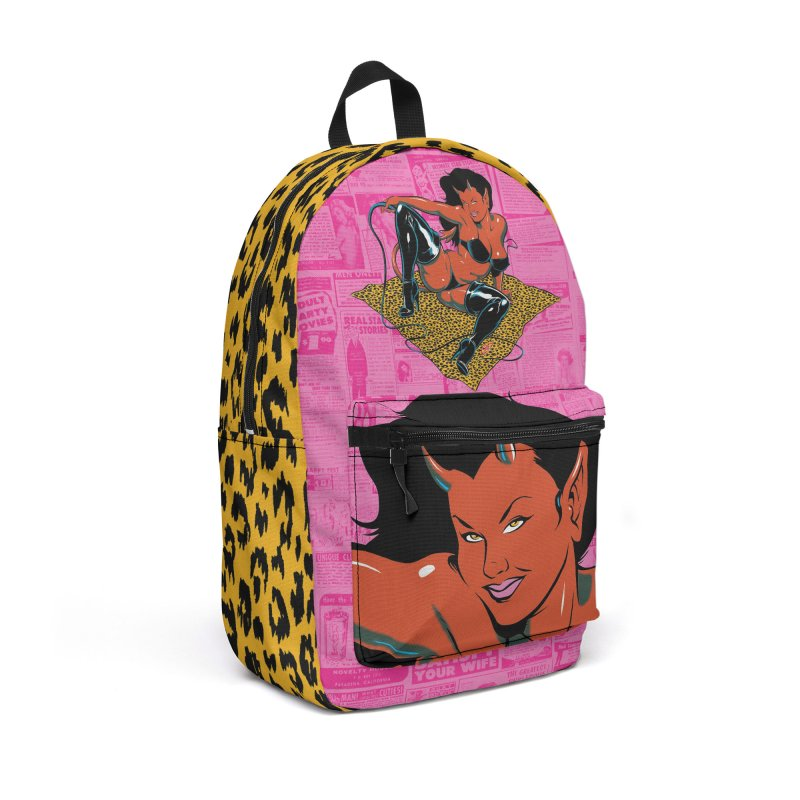Wild Devil Girl in Backpack by The Art of Coop