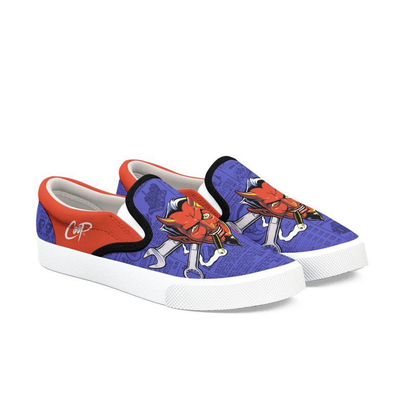 Wrench Devil in Men's Slip-On Shoes by The Art of Coop