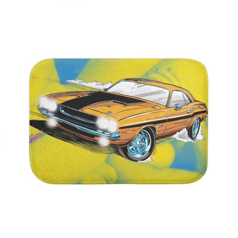 CHALLENGER Home Bath Mat by artofcoop's Artist Shop