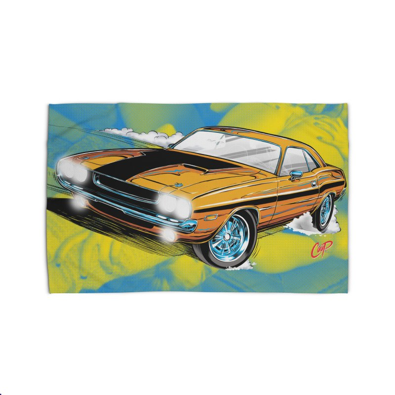 CHALLENGER Home Rug by artofcoop's Artist Shop