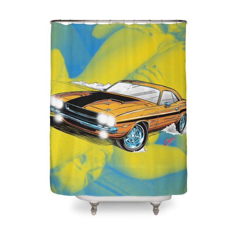 CHALLENGER Home Shower Curtain by artofcoop's Artist Shop