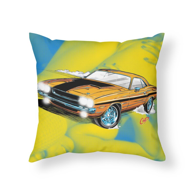 CHALLENGER in Throw Pillow by artofcoop's Artist Shop