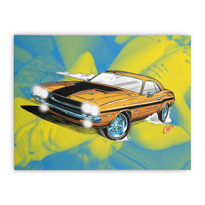 CHALLENGER Home Stretched Canvas by artofcoop's Artist Shop