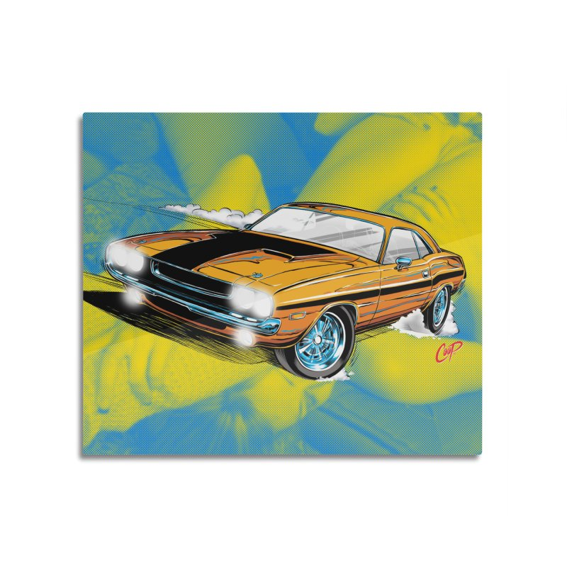 CHALLENGER Home Mounted Aluminum Print by artofcoop's Artist Shop