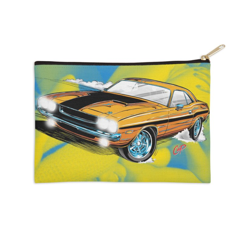 CHALLENGER Accessories Zip Pouch by artofcoop's Artist Shop