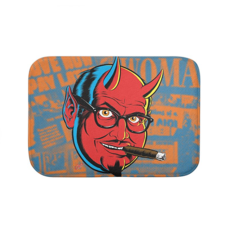 SALESDEVIL Home Bath Mat by artofcoop's Artist Shop