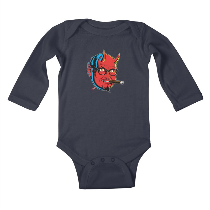 SALESDEVIL Kids Baby Longsleeve Bodysuit by artofcoop's Artist Shop