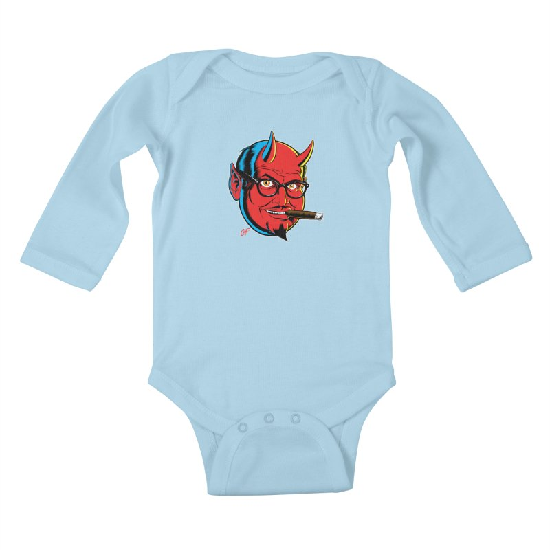 SALESDEVIL Kids Baby Longsleeve Bodysuit by The Art of Coop