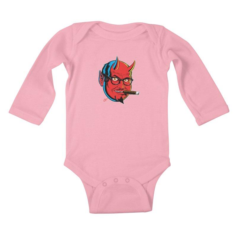 SALESDEVIL Kids Baby Longsleeve Bodysuit by artofcoop's Artist Shop