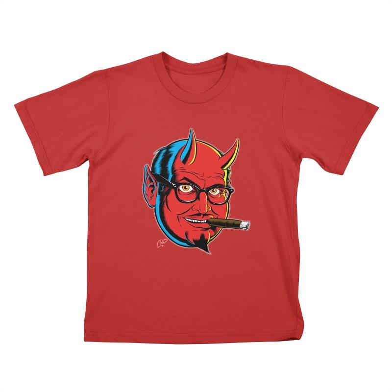 SALESDEVIL Kids T-Shirt by artofcoop's Artist Shop