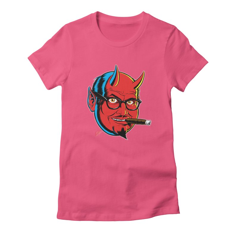 SALESDEVIL Women's Fitted T-Shirt by artofcoop's Artist Shop
