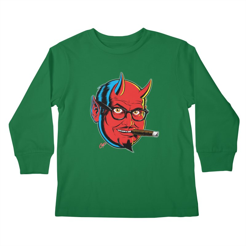 SALESDEVIL Kids Longsleeve T-Shirt by The Art of Coop