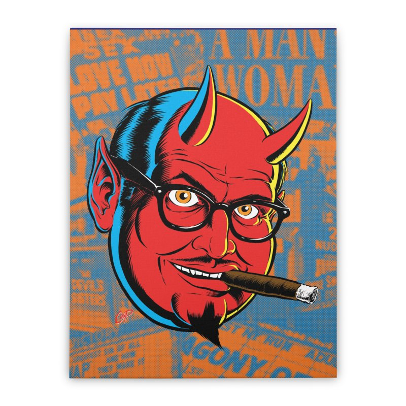 SALESDEVIL Home Stretched Canvas by artofcoop's Artist Shop