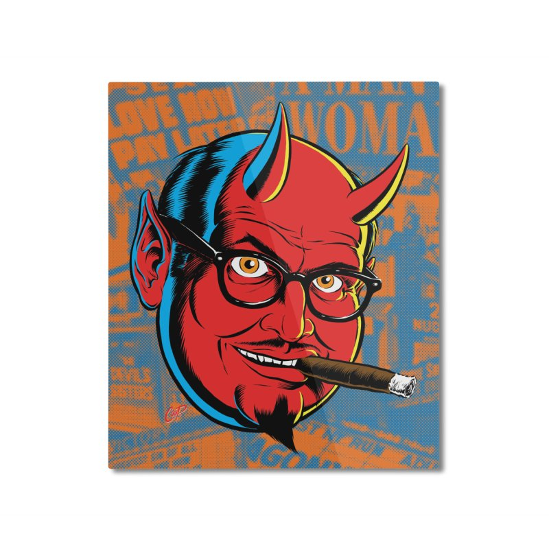 SALESDEVIL Home Mounted Aluminum Print by artofcoop's Artist Shop