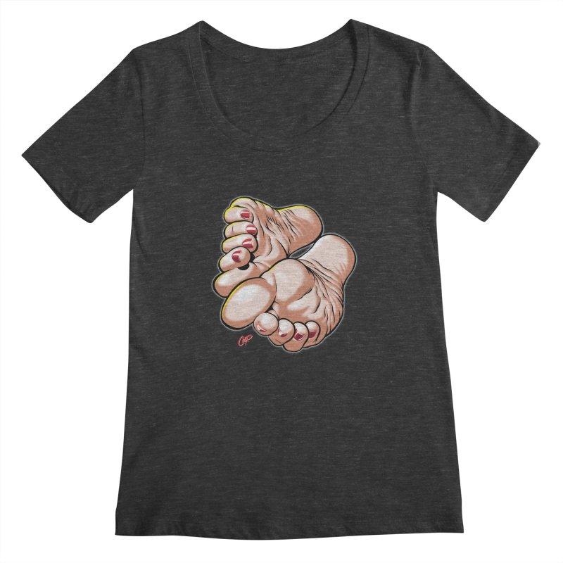 FOOT FETISH Women's Scoopneck by artofcoop's Artist Shop
