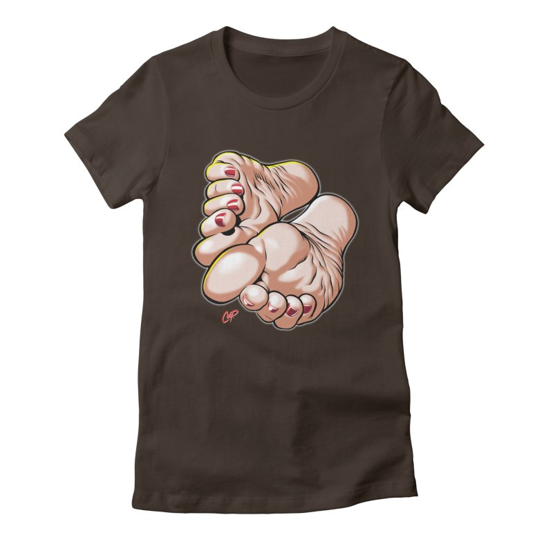 FOOT FETISH Women's Fitted T-Shirt by The Art of Coop