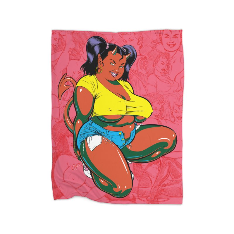 BIG POP GIRL Home Blanket by artofcoop's Artist Shop