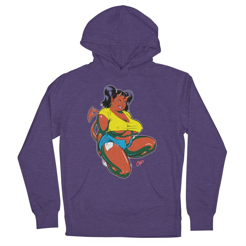 BIG POP GIRL Women's French Terry Pullover Hoody by The Art of Coop