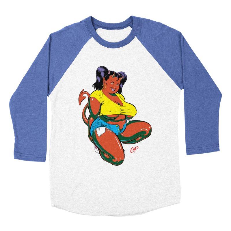 BIG POP GIRL Women's Baseball Triblend T-Shirt by artofcoop's Artist Shop