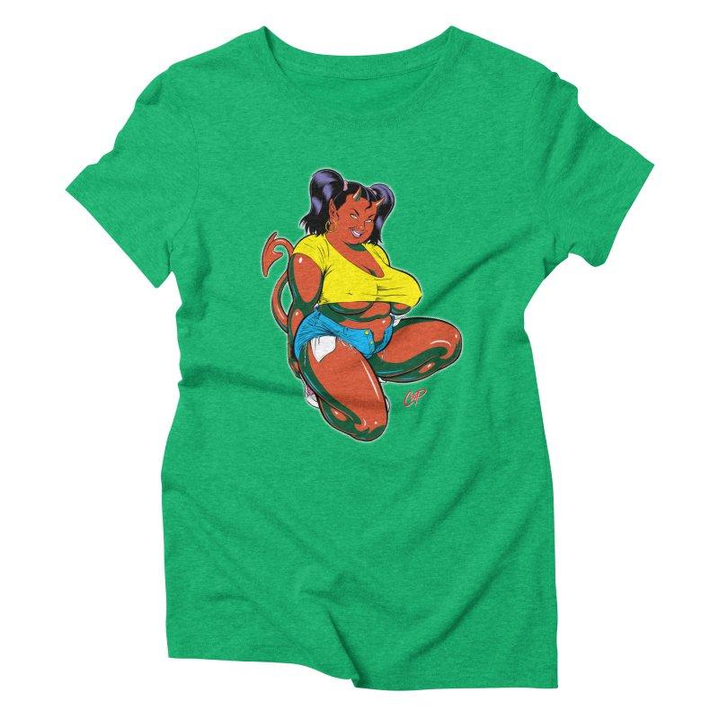 BIG POP GIRL Women's Triblend T-Shirt by artofcoop's Artist Shop