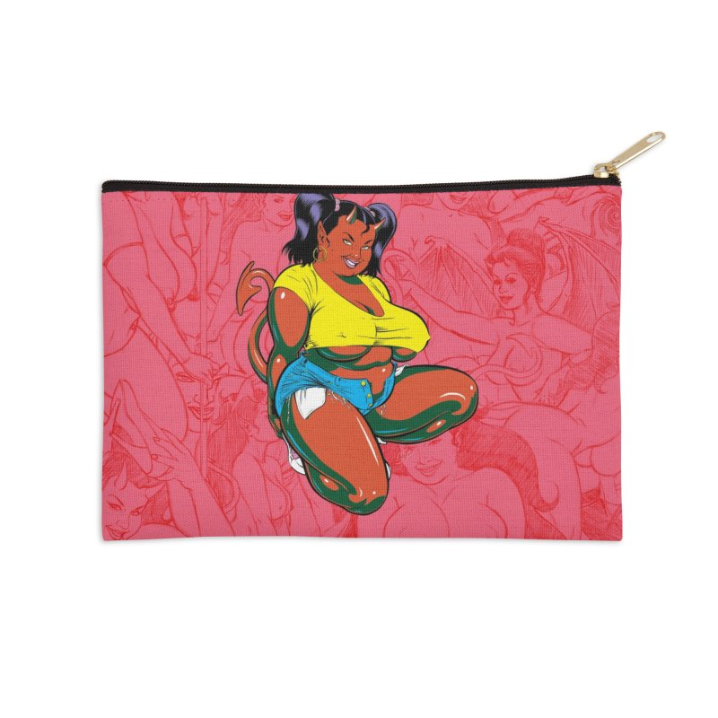 BIG POP GIRL Accessories Zip Pouch by artofcoop's Artist Shop