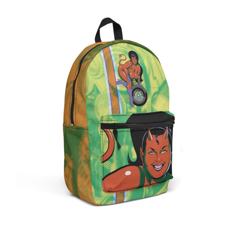 BIG WHEEL GIRL in Backpack by The Art of Coop