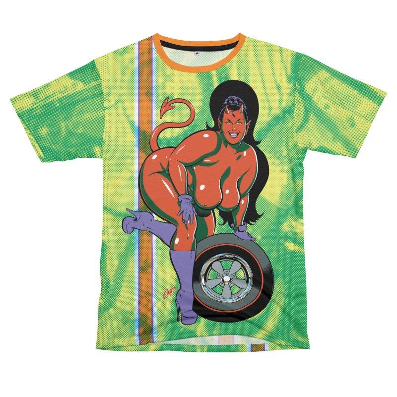 BIG WHEEL GIRL Men's T-Shirt Cut & Sew by The Art of Coop