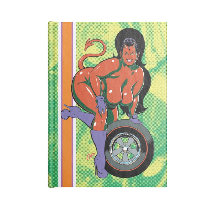 BIG WHEEL GIRL Accessories Notebook by The Art of Coop