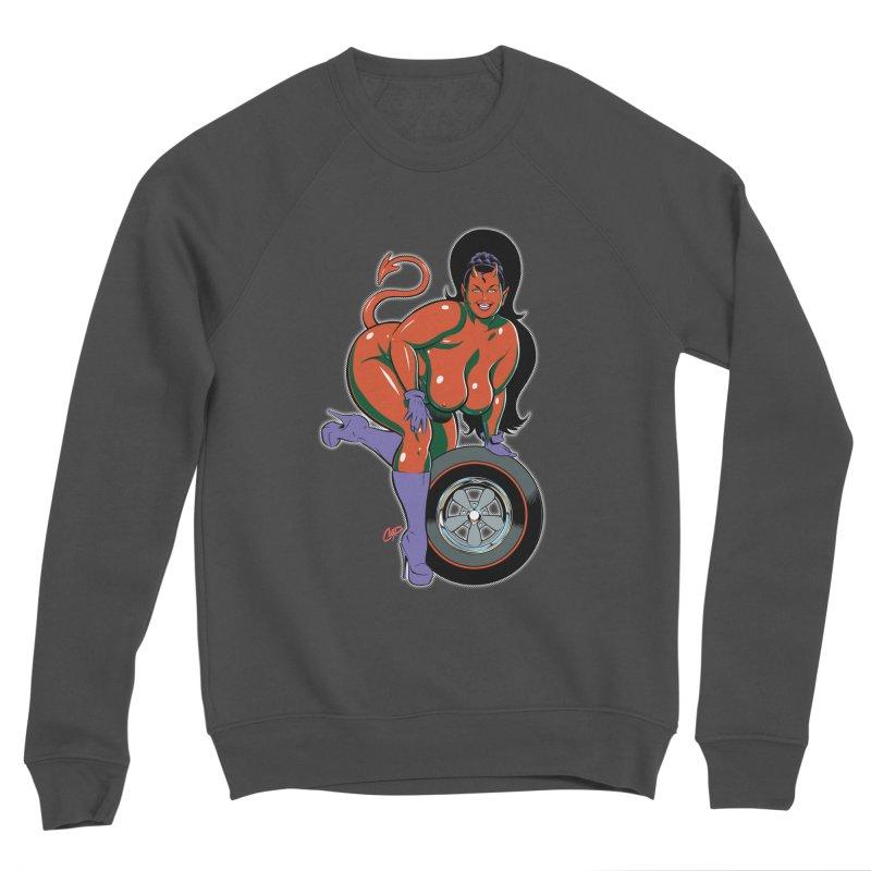 BIG WHEEL GIRL Men's Sponge Fleece Sweatshirt by artofcoop's Artist Shop