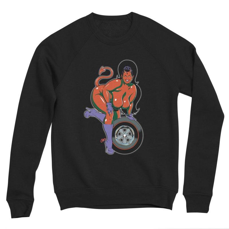BIG WHEEL GIRL Women's Sponge Fleece Sweatshirt by artofcoop's Artist Shop