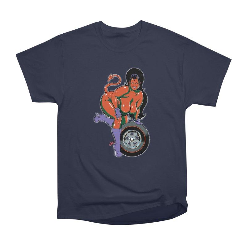 BIG WHEEL GIRL Men's Heavyweight T-Shirt by artofcoop's Artist Shop