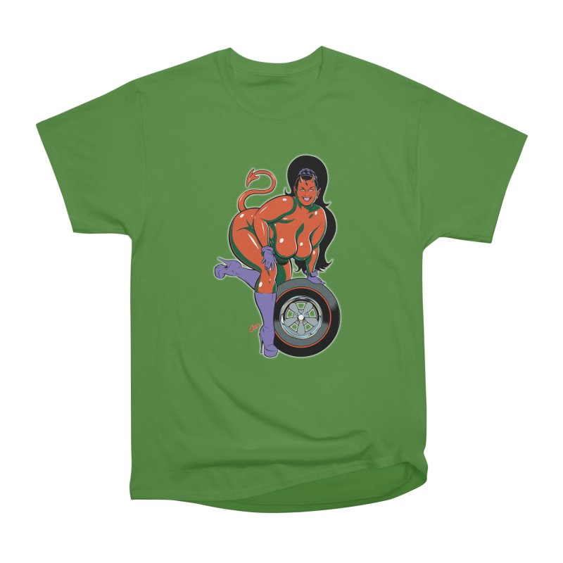 BIG WHEEL GIRL Men's Classic T-Shirt by artofcoop's Artist Shop