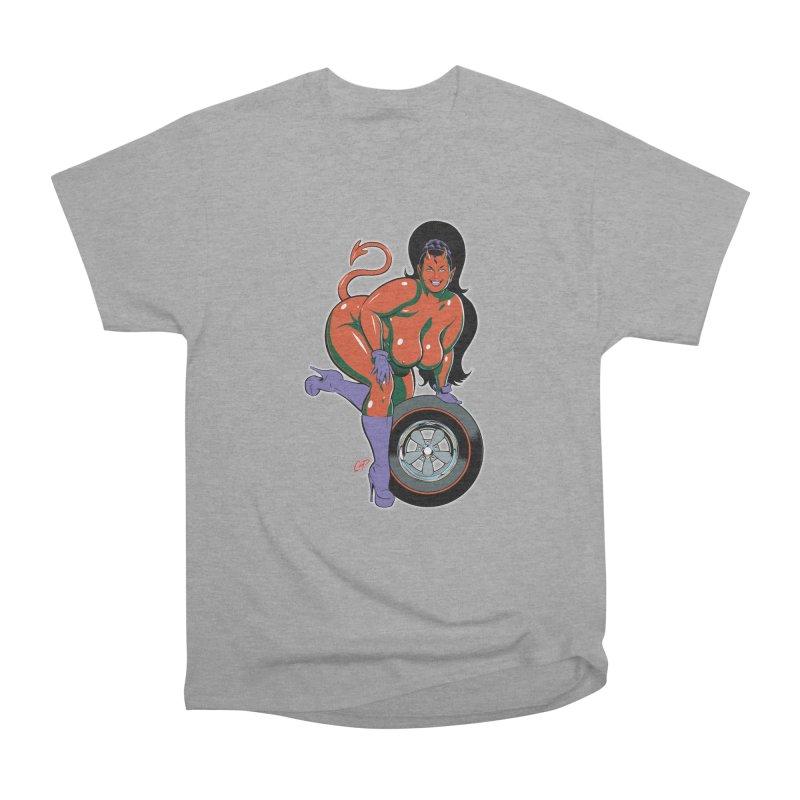 BIG WHEEL GIRL Women's Heavyweight Unisex T-Shirt by artofcoop's Artist Shop