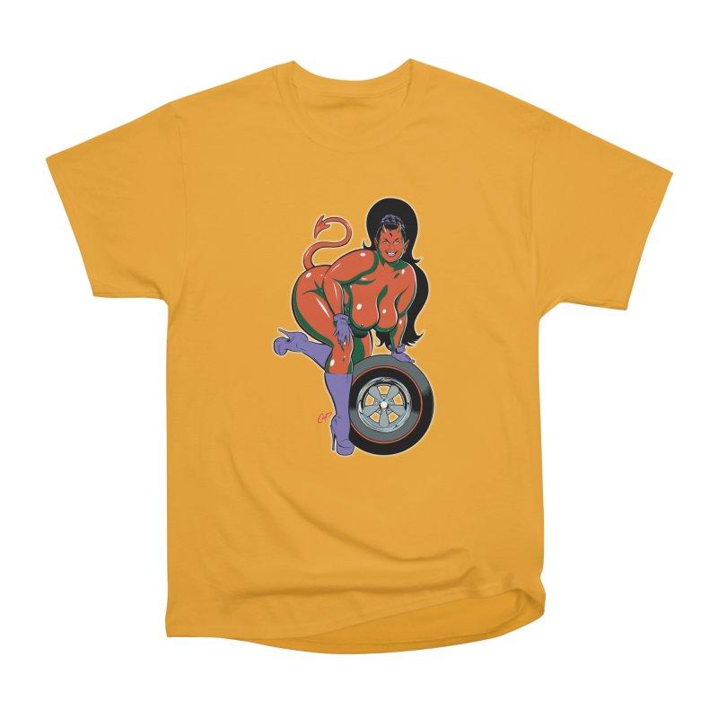 BIG WHEEL GIRL Women's Heavyweight Unisex T-Shirt by The Art of Coop