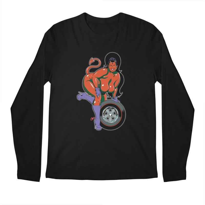 BIG WHEEL GIRL Men's Longsleeve T-Shirt by artofcoop's Artist Shop