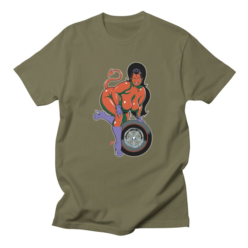 BIG WHEEL GIRL Men's Regular T-Shirt by The Art of Coop