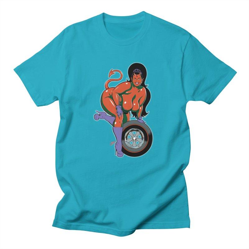 BIG WHEEL GIRL Women's Unisex T-Shirt by artofcoop's Artist Shop