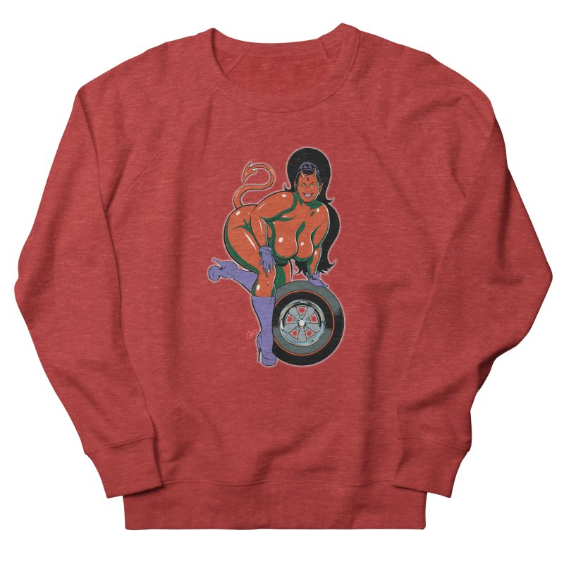 BIG WHEEL GIRL Women's Sweatshirt by artofcoop's Artist Shop