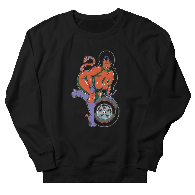 BIG WHEEL GIRL Women's French Terry Sweatshirt by artofcoop's Artist Shop