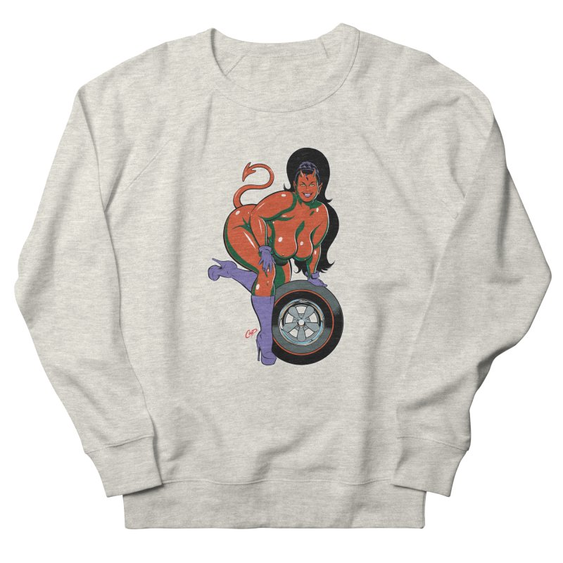 BIG WHEEL GIRL Men's French Terry Sweatshirt by artofcoop's Artist Shop