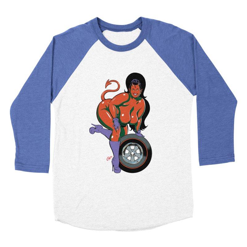 BIG WHEEL GIRL Women's Baseball Triblend T-Shirt by artofcoop's Artist Shop
