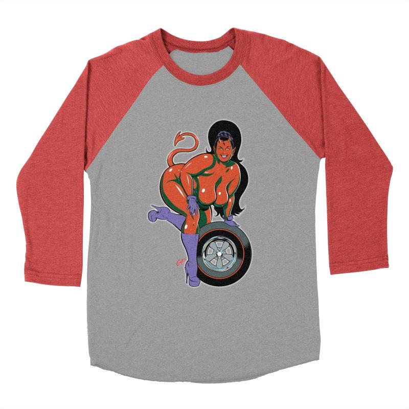 BIG WHEEL GIRL Men's Baseball Triblend Longsleeve T-Shirt by artofcoop's Artist Shop