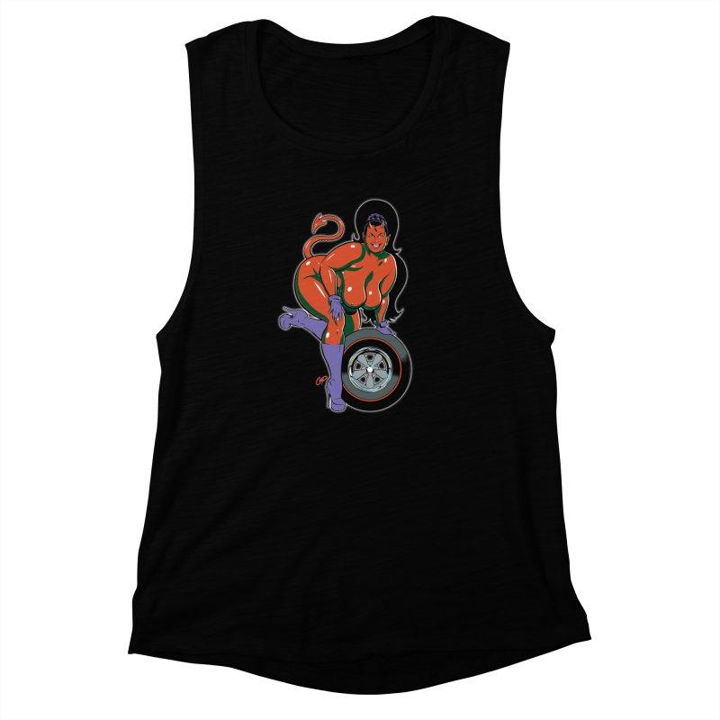 BIG WHEEL GIRL Women's Muscle Tank by artofcoop's Artist Shop